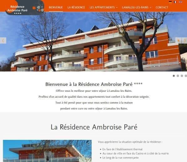 Page d'accueil résidence de tourisme