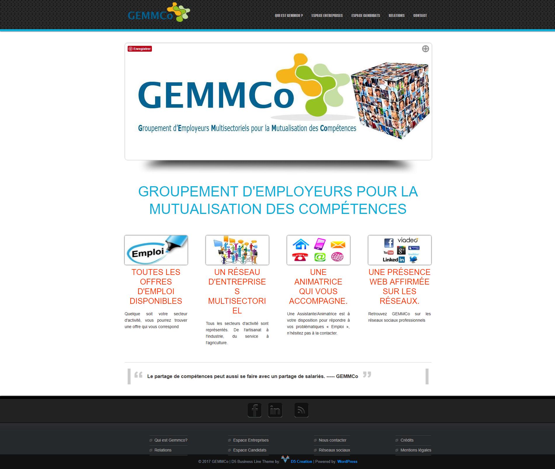 Site GEMMCo groupement d'employeurs