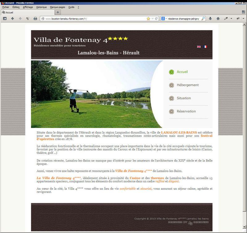 Page d'accueil Villa Fontenay